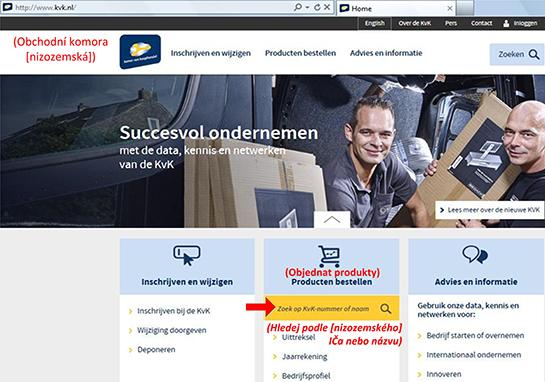 Jak najít vlastníka nizozemské (holandské) firmy? - obr1