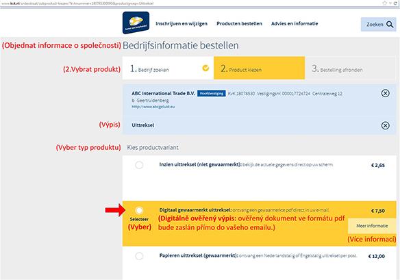 Jak najít vlastníka nizozemské (holandské) firmy? - obr9